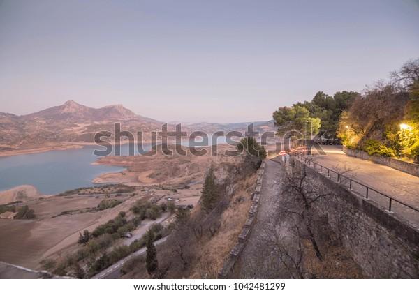 Zahara de la Sierra in Grazalema mountains Cadiz province Andalusia Spain
