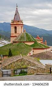 "Zahara de la Sierra village church, a famous ""white village"" in Cadiz, Spain"