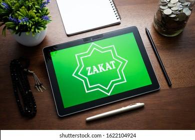 "Zakat Online Islamic Concept. ""ZAKAT"" the Islamic obligatory charity"