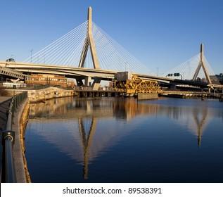 The Zakim Bridge in Boston, Massachusetts - USA.