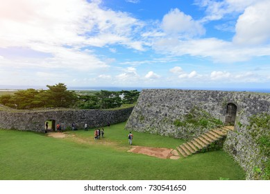 Zakimi Castle is a Ryukyuan gusuku in Yomitan, Okinawa. It is in ruins, but the walls and foundations have been restored. It was built between 1416 and 1422 by the renowned Ryukyuan general Gosamaru