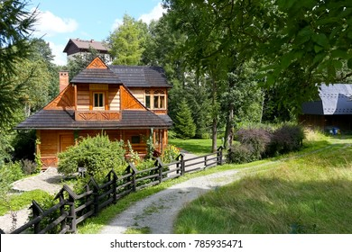 Zakopane, Poland - August 14, 2017: A wooden villa called Atma that dates back to the end nineteenth century is widely known because the composer Karol Szymanowski lived here in the years 1930-1936.