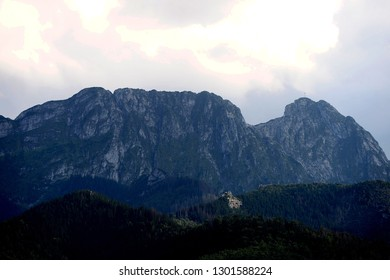 Zakopane, Poland - August 17, 2018: polish mountains - Giewont