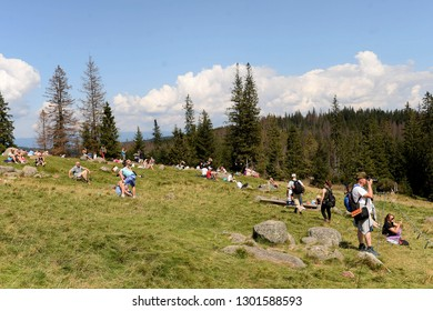 Zakopane, Poland - August 17, 2018: polish mountains