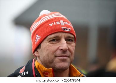 ZAKOPANE, POLAND - JANUARY 18, 2015: FIS Ski Jumping World Cup Zakopane, Werner Shuster, Germany