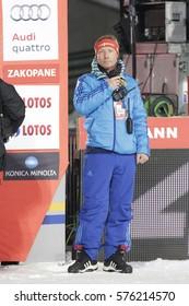 ZAKOPANE, POLAND - JANUARY 23, 2016: FIS Ski Jumping World Cup in Zakopane o/p  Walter Hofer