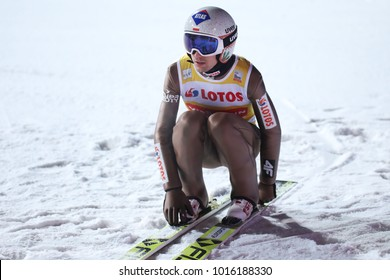 ZAKOPANE, POLAND - JANUARY 26, 2018: FIS Ski Jumping World Cup in Zakopane o/p Kamil Stoch