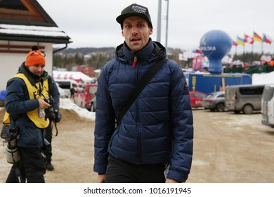 ZAKOPANE, POLAND - JANUARY 28, 2018: FIS Ski Jumping World Cup in Zakopane o/p Sven Hannawald