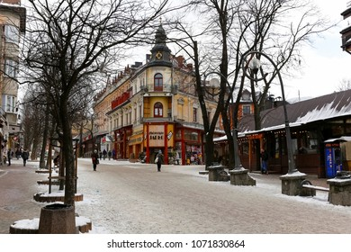 Zakopane, Poland - March 21, 2018: The tenement house, which dates back to the turn of the 19th and 20th centuries, is known locally as the Leisten's houseand it is located by Krupowki Street.