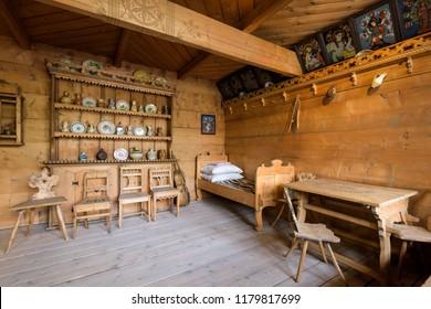 Zakopane, Poland - Sept 14, 2018: Exhibition in the Tatra Museum in Zakopane, Poland