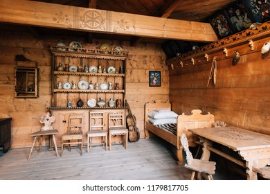 Zakopane, Poland - Sept 14, 2018: Exhibition in the Tatra Museum in Zakopane, Poland