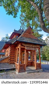 ZAKOPANE, POLAND - SEPTEMBER 29, 2018: Tourist Information on 29 September 2018 in Zakopane, Poland. Zakopane is one of the most visited Polish cities, hence the need for tourist information