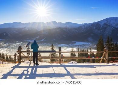 Zakopane at Tatra mountains in winter time, Poland