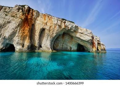 Zakynthos in April. Shipreck beach