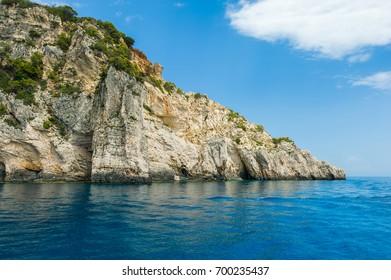 Zakynthos island coastline landscape.