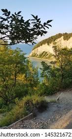 Mesečev zaliv (Moon Bay) in Natural park Strinjam, Slovenia
