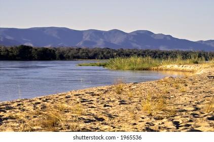 Zambezi river scenery
