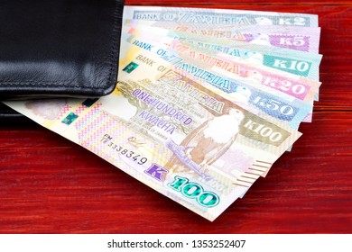 Zambian Kwacha in the black wallet