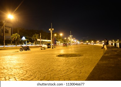 Zamboanga, Philippines - 05/16/2018; Roseller T. Lim boulevard, A famous boulevard in Zamboanga City which has the view of the beautiful Basilan Strait and the Sulu Sea.