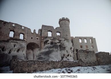Zamek Ogrodzieniec castle, Old ruins in Poland