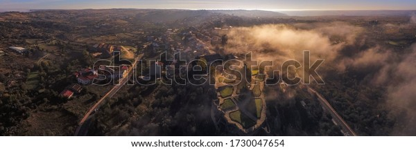 Zamora. Aerial view in Fermoselle. Spain. Drone photo