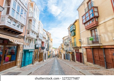 Zamora, Spain. 10 october, 2018: beautiful balboraz street of zamora, Spain