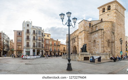 zamora, Spain. 10th october 2018: Zamora old town square