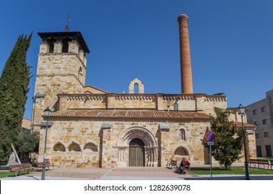 ZAMORA, SPAIN - APRIL 17, 2018: Santa Maria de la Horta church in Zamora, Spain