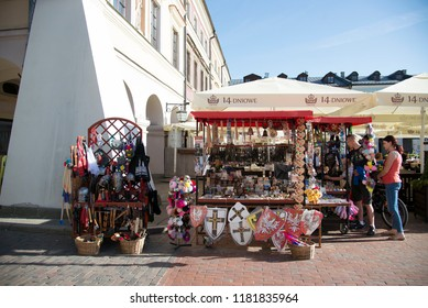 ZAMOSC, LUBLIN VOIVODESHIP / POLAND - MAY 12, 2018: Historical Great Market Square in Zamosc