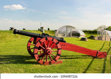 Zamosc, Poland - May 1, 2018: The Arsenal Museum of fortifications and weaponry, a division of Zamosc Museum.