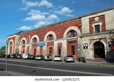 Zamosc, Poland - May 1, 2018: The Nadszaniec Arsenal Museum of fortifications and weaponry, a division of Zamosc Museum.
