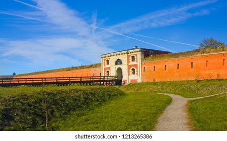 ZAMOSC, POLAND - October 16, 2018: The Szczebrzeska Gate of fortifications in Zamosc