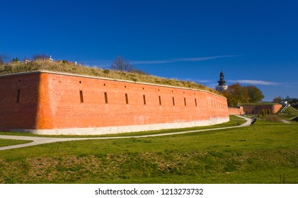 ZAMOSC, POLAND - October 16, 2018: Old military system of fortification (Bastion) in Zamosc