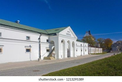ZAMOSC, POLAND - October 16, 2018: Museum of Arsenal in Zamosc