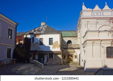 ZAMOSC, POLAND - October 16, 2018:  Jewish Synagogue in Zamosc