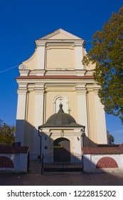 ZAMOSC, POLAND - October 16, 2018: Church of St. Catherine in Zamosc