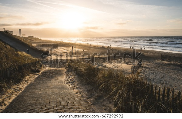 Zandvoort Beach during sunset