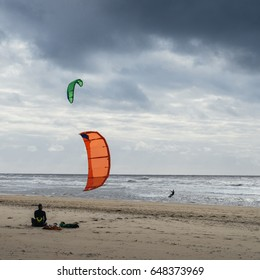 Zandvoort beach in the Netherlands is one of the finest in Holland or indeed in the Netherlands with many beach cafes and lots of recreation like kitesurfing, sailing.
