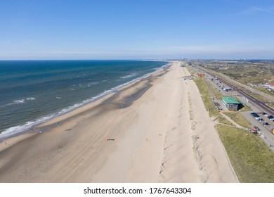 Zandvoort beach on the North Sea coast of the Netherlands