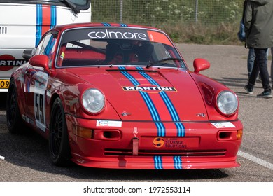ZANDVOORT,HOLLAND - 18 MEI 2019: Front of a vintage red fast porsche 911 on a autoshow