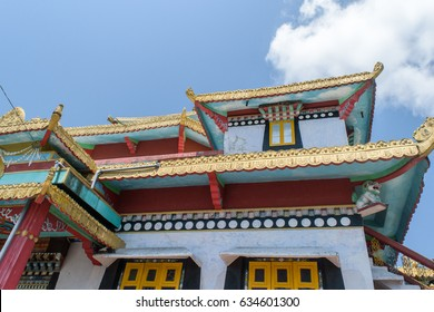 Zang Dhok Palri Phodang is a Buddhist monastery in Kalimpong in West Bengal, India. The monastery is located atop Durpin Hill. It was consecrated in 1976 by the visiting Dalai Lama.
