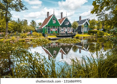 Zanse Schaans. An old traditional wind mill village in the Netherlands.