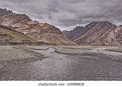 Zanskar Valley from Kargil Indian Himalayas