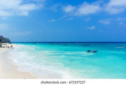 Zanzibar beach Nungwi beach in Zanzibar tanzania