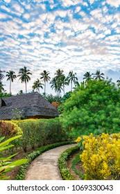 ZANZIBAR CITY, TANZANIA - August 13, 2017: Resort of Zanzibar Island in Zanzibar, Tanzania.