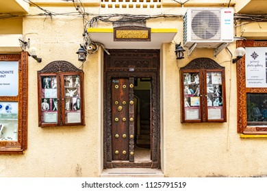 ZANZIBAR CITY, TANZANIA - August 14, 2017: Mercury House at Stone Town in Zanzibar, Tanzania.