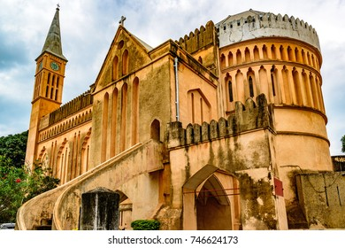 ZANZIBAR CITY, TANZANIA - August 14, 2017: Old Slave Market/Anglican Cathedral in Stone Town, Zanzibar, Tanzania.