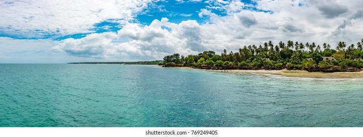 Zanzibar Coast Landscape in Tanzania. Zanzibar is a semi-autonomous region of Tanzania in East Africa.