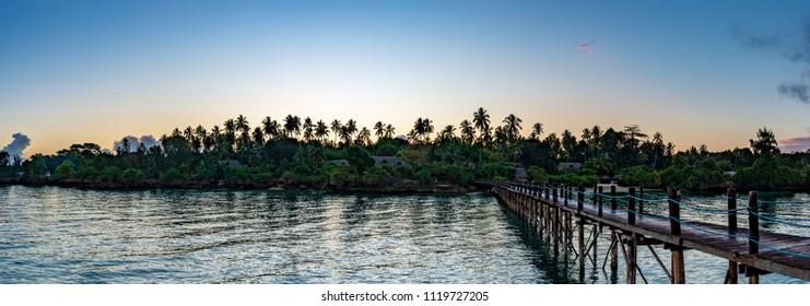 Zanzibar island in Tanzania at morning. Zanzibar is a semi-autonomous region of Tanzania in East Africa.