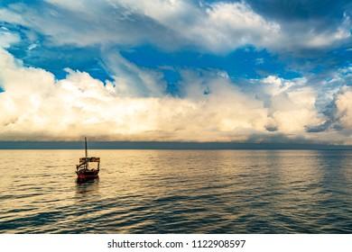 Zanzibar Seascape in Zanzibar Island, Tanzania at morning.